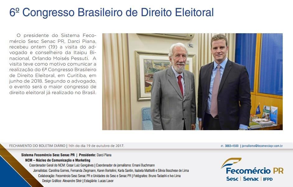 Presidente do IPRADE visita Fecomércio