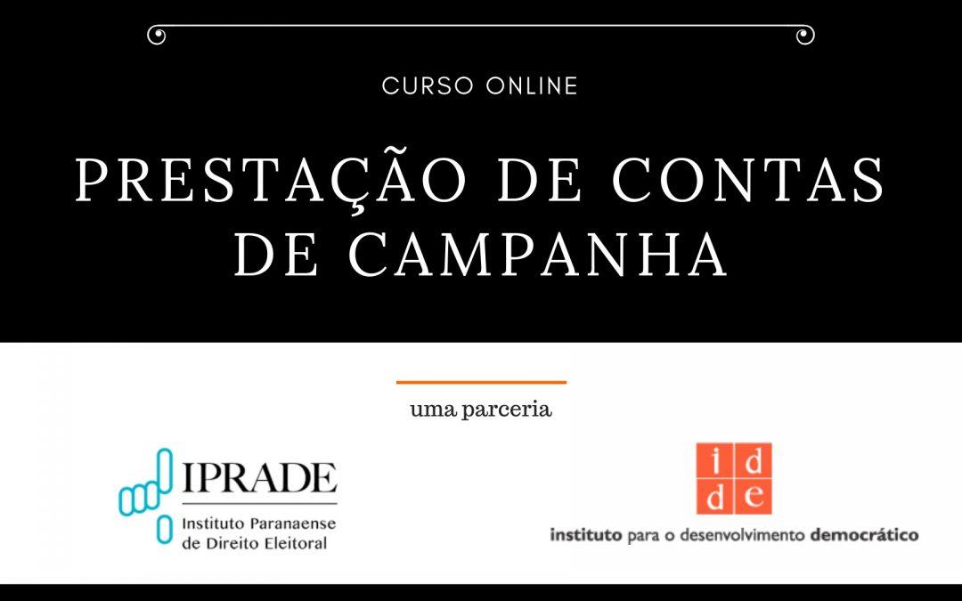 Com apoio do IPRADE, IDDE promove curso de prestação de contas de campanha