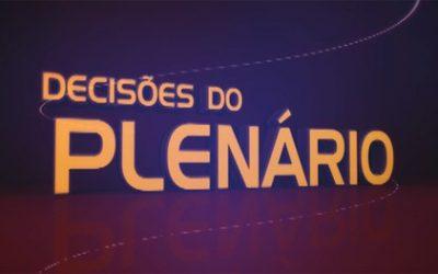 Programa Decisões do Plenário vai ao ar no final de semana