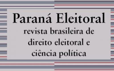 Revista Paraná Eleitoral recebe artigos