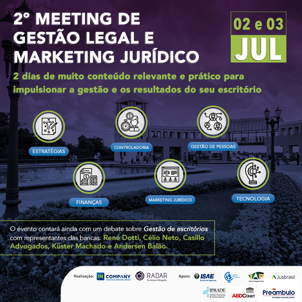 Iprade apoia 2˚ Meeting de Gestão Legal e Marketing Jurídico