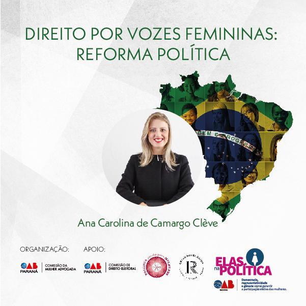 """Presidente do Iprade participa  do evento """"Mulheres na Política – Direito por Vozes Femininas: Reforma Política"""""""