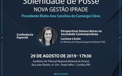Convite: Solenidade de posse da nova diretoria do Iprade