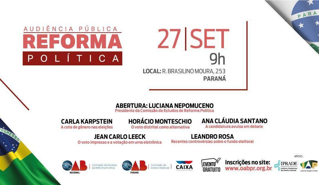 Audiência Pública sobre Reforma Política – OAB Paraná