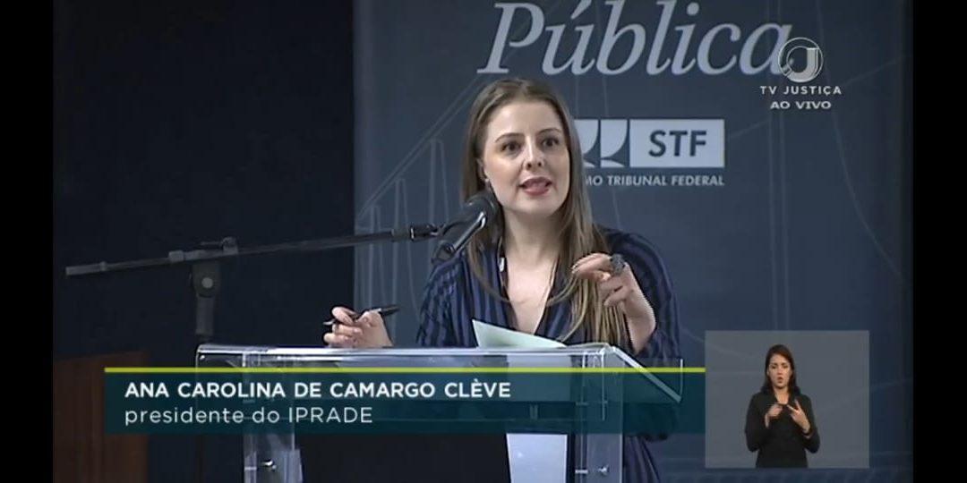 Iprade participa de audiência pública sobre candidaturas avulsas no STF