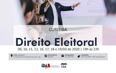 Presidente do Iprade ministra curso de Direito Eleitoral na ESMAFE