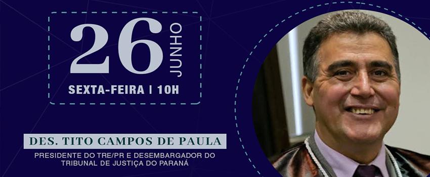 """""""Panorama Geral sobre a Justiça Eleitoral"""" é tema de live organizada pelo Iprade e pela UniBrasil"""