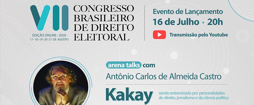 Lançamento do Congresso Brasileiro de Direito Eleitoral traz debate sobre Direito e Mídia com Kakay