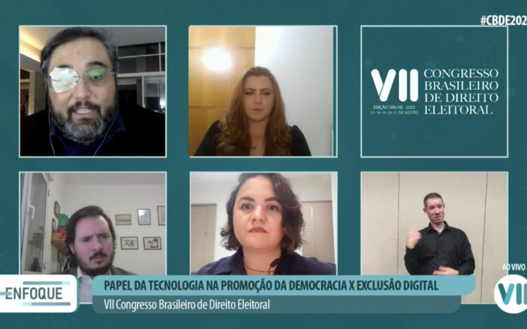 Uso da tecnologia na promoção da democracia é discutido em painel do VII CBDE