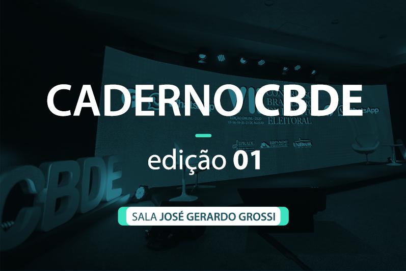 Caderno VII CBDE 01 | Sala José Gerardo Grossi