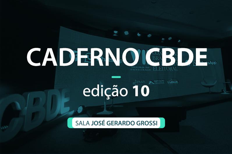 Caderno VII CBDE 10 | Sala José Gerardo Grossi