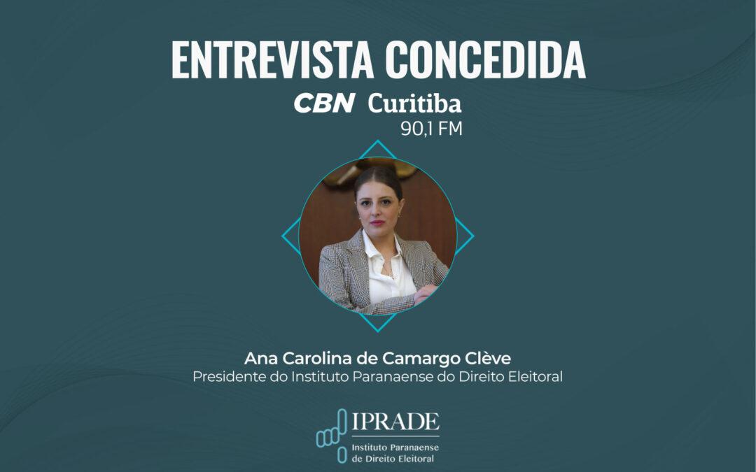 Presidente do Iprade concede entrevista para a CBN Curitiba